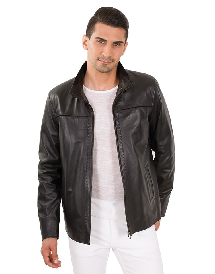 BORIS MEN LEATHER JACKET