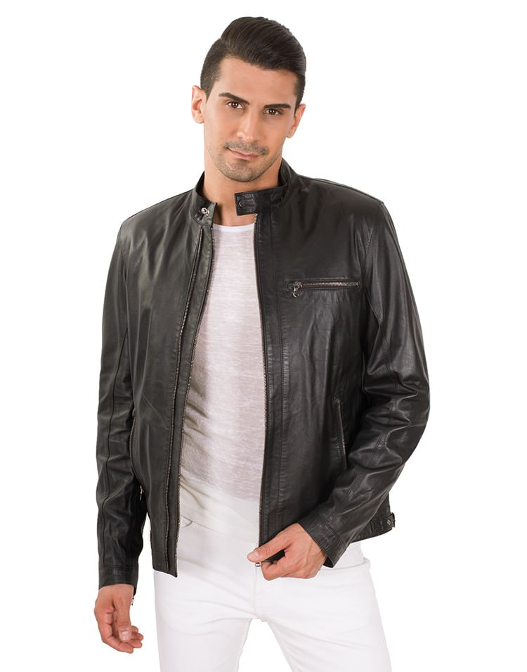 BOSS MEN LEATHER JACKET