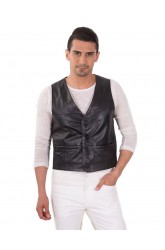 ISLAND MEN LEATHER VEST