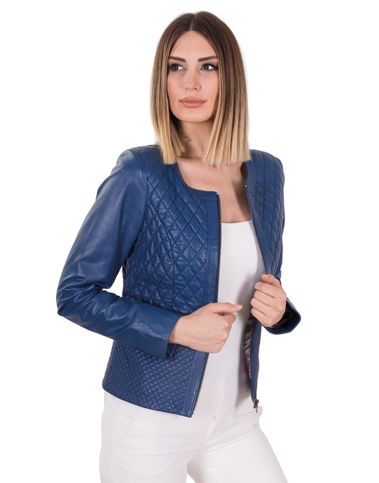 DIAMOND WOMEN LEATHER JACKET