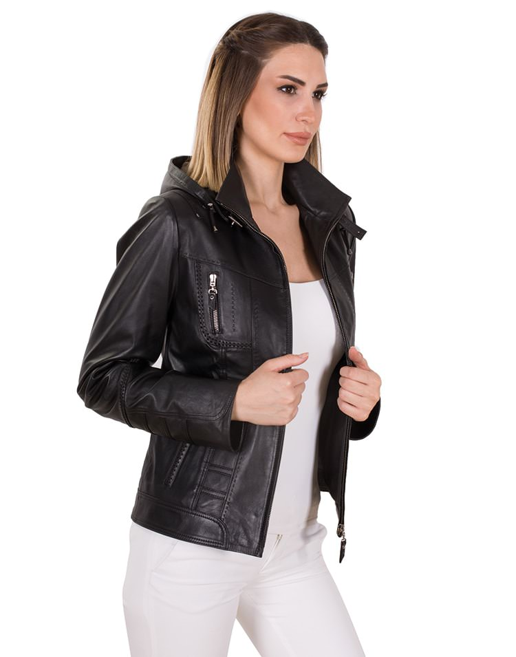 JANET WOMEN LEATHER JACKET