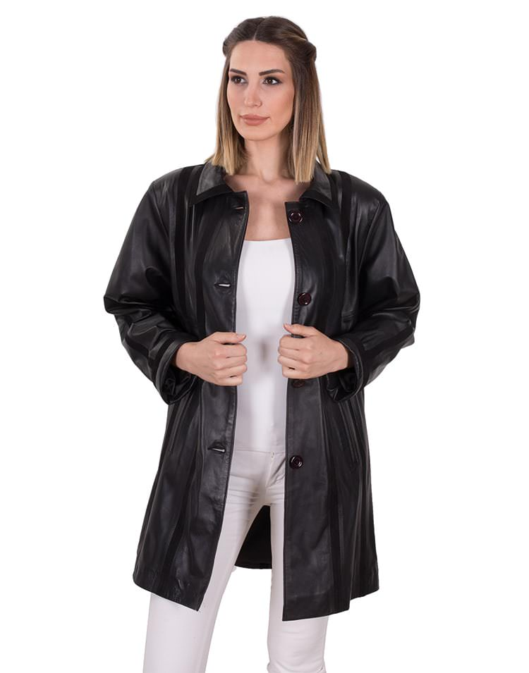 DIVA WOMEN LEATHER COAT