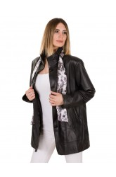 VUAL WOMEN LEATHER COAT