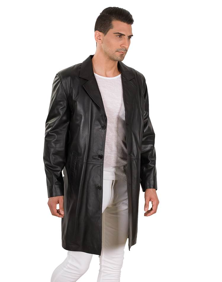 MOSSO MEN LEATHER COAT