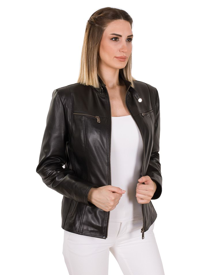 EVA WOMEN LEATHER JACKET