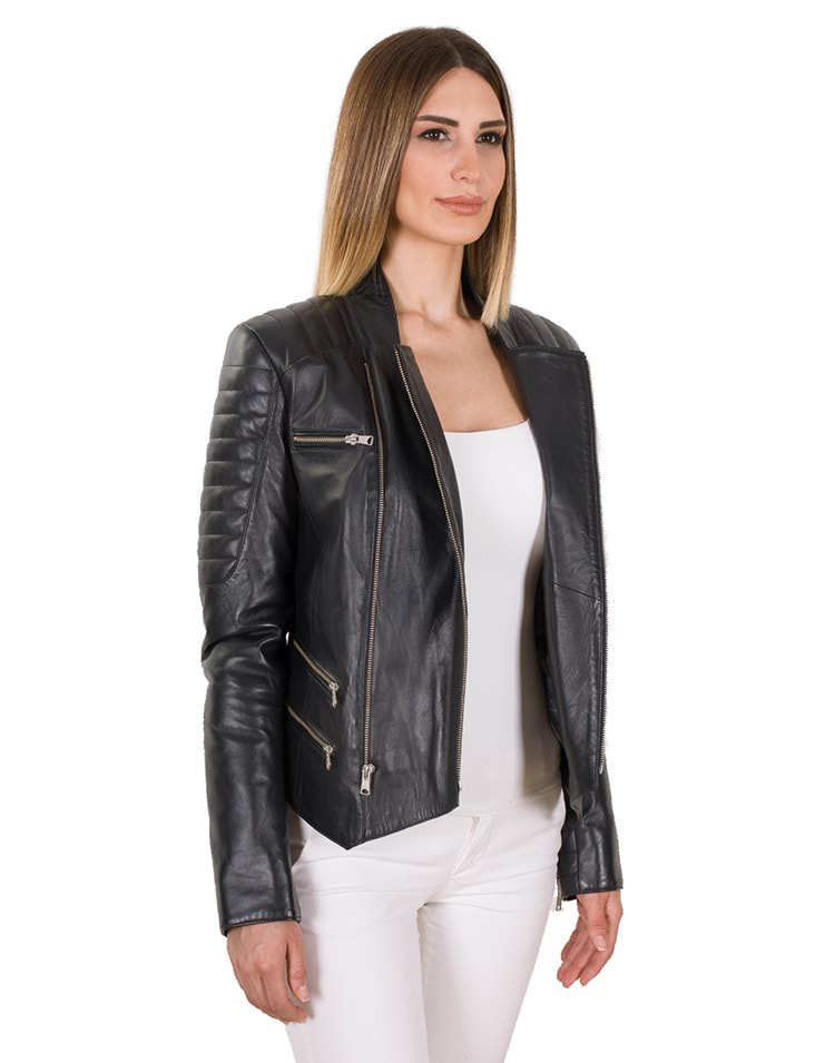 NERRA WOMEN LEATHER JACKET