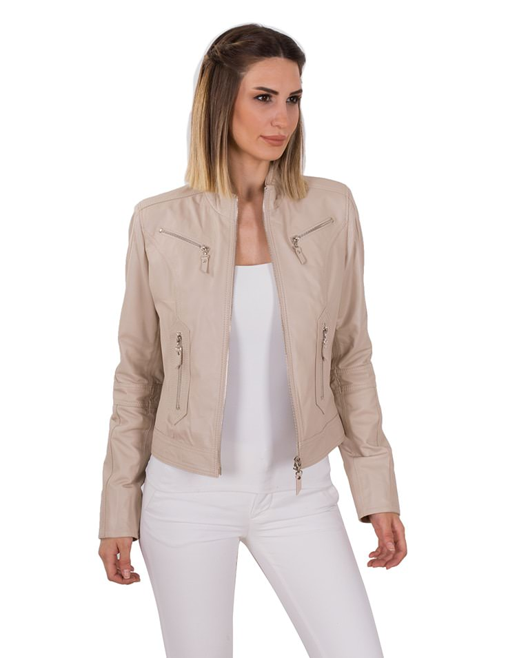 SOPHIA WOMEN LEATHER JACKET