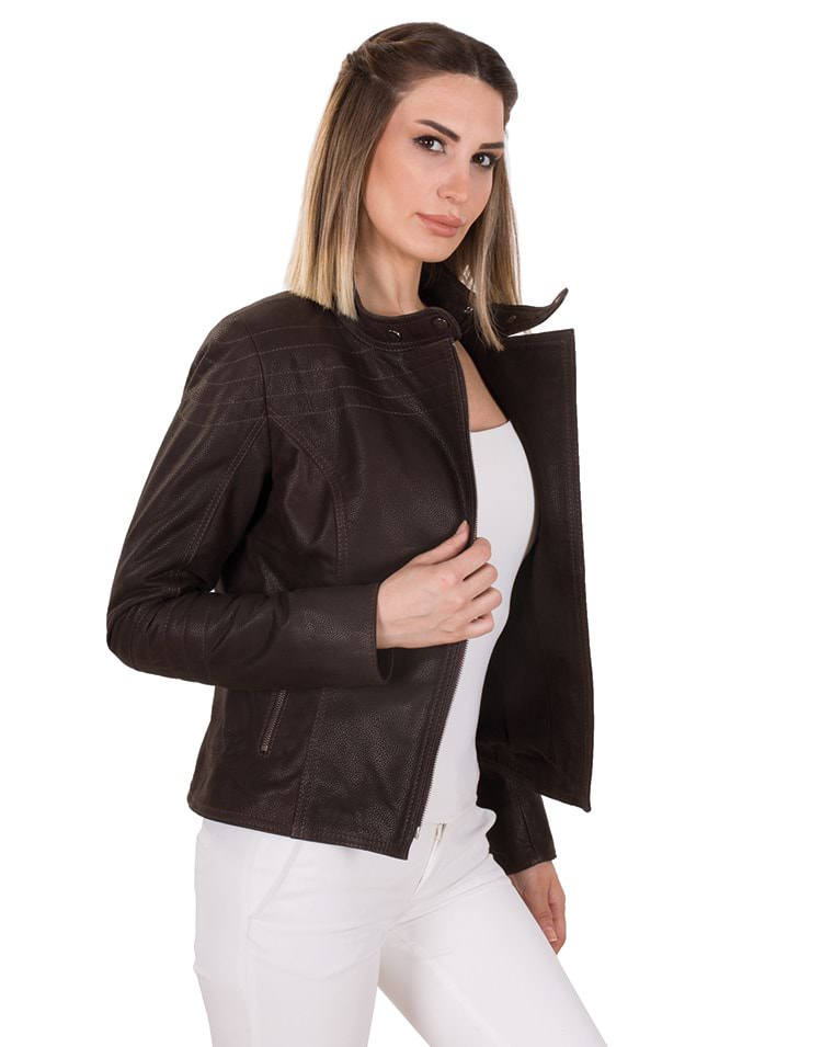 BUFFALO STONE WOMEN LEATHER JACKET