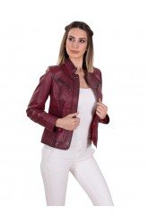 VERONICA WOMEN LEATHER JACKET